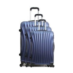 Sada 3 modrých cestovních kufrů na kolečkách Hero Jackson