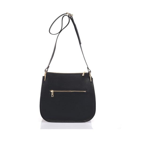Kožená kabelka Belinda, černo-bílá