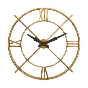 Nástěnné hodiny ze železa ve zlaté barvě Mauro Ferretti Muro
