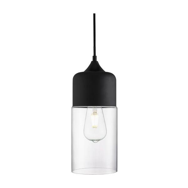 Stropní svítidlo Searchlight Olsson, černá/čirá