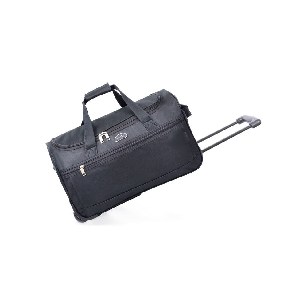 Černá cestovní taška na kolečkách Hero, 43 l