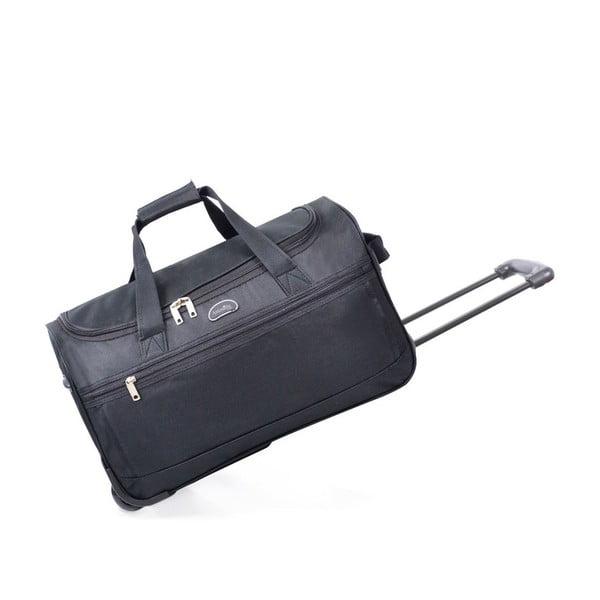 Czarna torba podróżna na kółkach Marion, 43 l