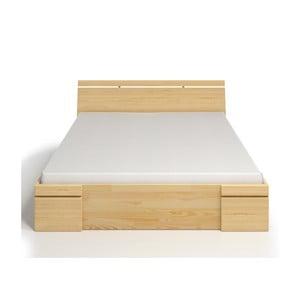 Pat dublu din lemn de pin, cu sertar, SKANDICA Sparta Maxi, 200 x 200 cm