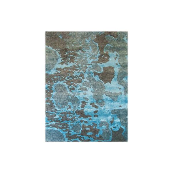 Ručně tkaný koberec Disco, 153x244 cm, modrý