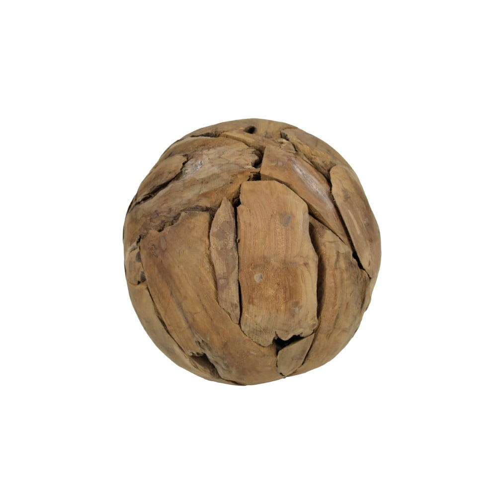 Dekorace z teakového dřeva HSM Collection Biag, Ø 30 cm