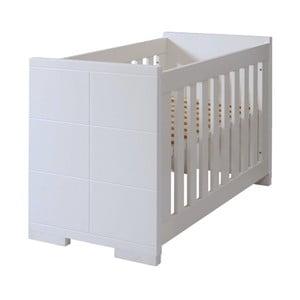 Pătuț pentru bebeluși, convertibil în pat pentru 1 persoană Núvol Blanca, 140 x 70 cm, alb