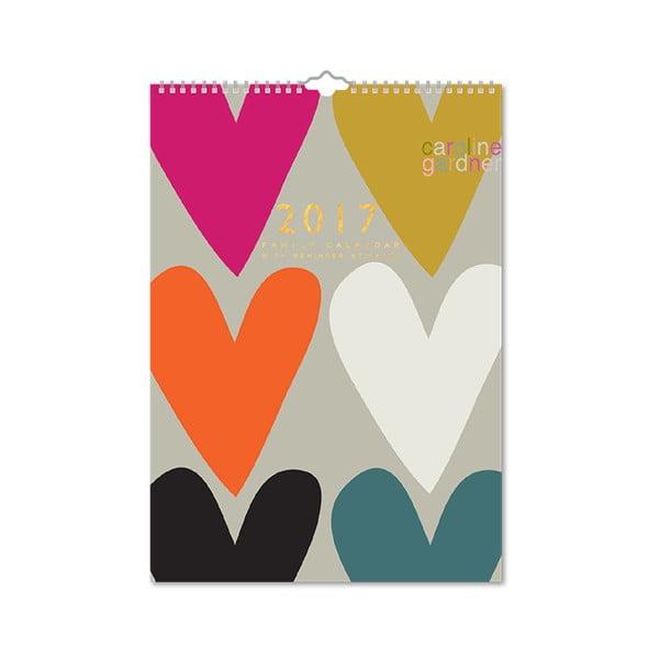 Rodinný kalendář Portico Designs Hearts