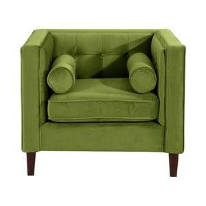 Olivově zelené křeslo Max Winzer Jeronimo
