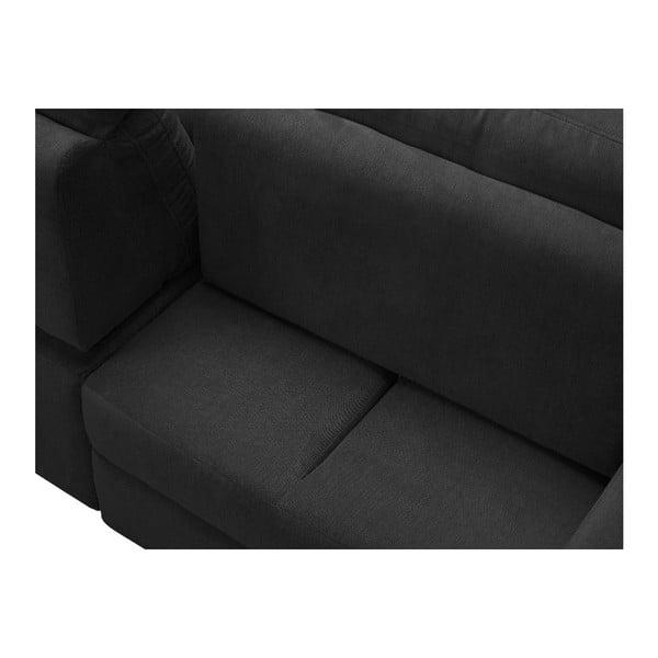 Tmavě šedá rohová rozkládací pohovka Windsor & Co Sofas, levý roh Alpha