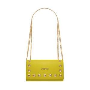Žlutá kožená kabelka Lampoo Luna