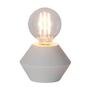 Bílá dřevěná stolní lampa Best Season Grace