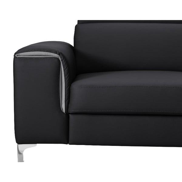 Černo-šedá pohovka Modernist Serafino, levý roh