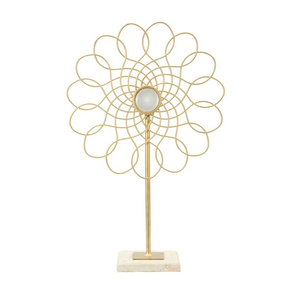 Dekoratívna soška zo železa v zlatej farbe Mauro Ferretti Ring