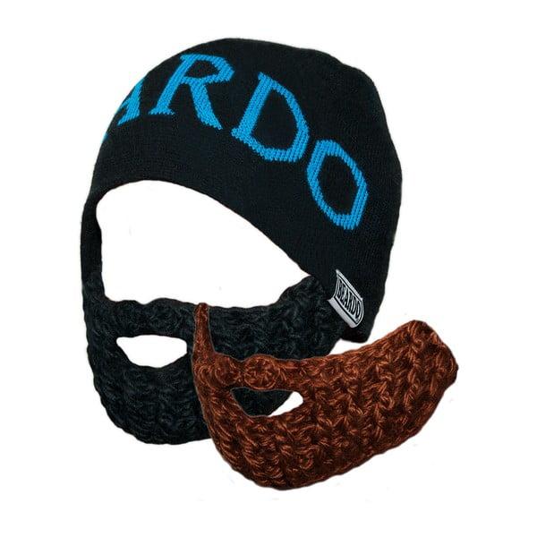 Čepice Beardo Original se dvěma odepínatelnými vousy, černá/modrá