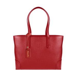 Červená kožená kabelka Maison Bag Lena