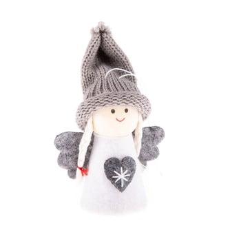 Decorațiune textilă suspendată Dakls, lungime 9 cm, alb, înger imagine