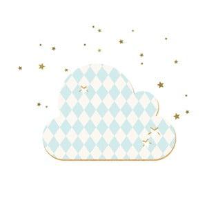 Dekorativní samolepící nástěnka Dekornik French Cloud Blue Stars