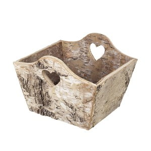 Dřevěný košík Birch Heart