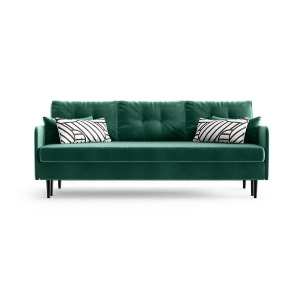 Memphis Emerald Green zöld háromszemélyes kinyitható kanapé - Daniel Hechter Home