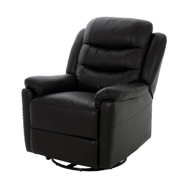 Czarny rozkładany fotel Actona Renzo