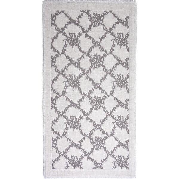 Šedobéžový bavlněný koberec Vitaus Sarmasik, 60x90cm