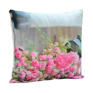 Polštář Pink Roses, 45x45 cm