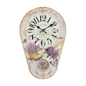Nástěnné hodiny s kyvadlem Lavender, 30x45 cm