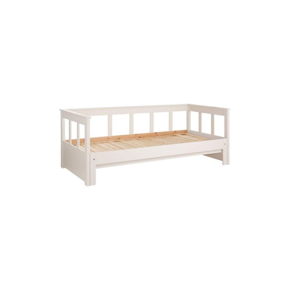 Bílá postel z masivního borovicového dřeva Vipack Pino, 200 x 80 cm