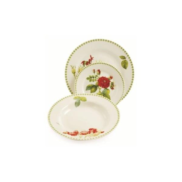 Sada porcelánových talířů Botanique, 18 ks