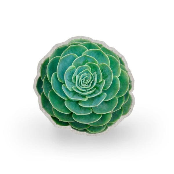 Poduszka z mikrowłókna Surdic Raso Suculenta Verde, ⌀ 45 cm