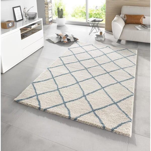 Bílý koberec Mint Rugs Grid, 200x290cm