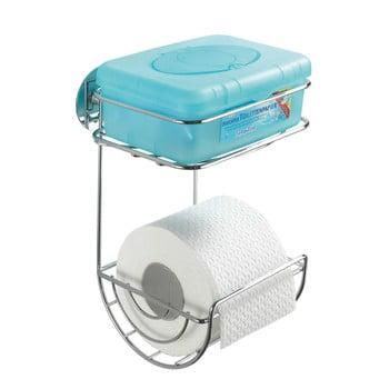 Etajeră autoadezivă cu două rafturi pentru hârtia igienică Wenko Turbo, până la 40 kg de la Wenko