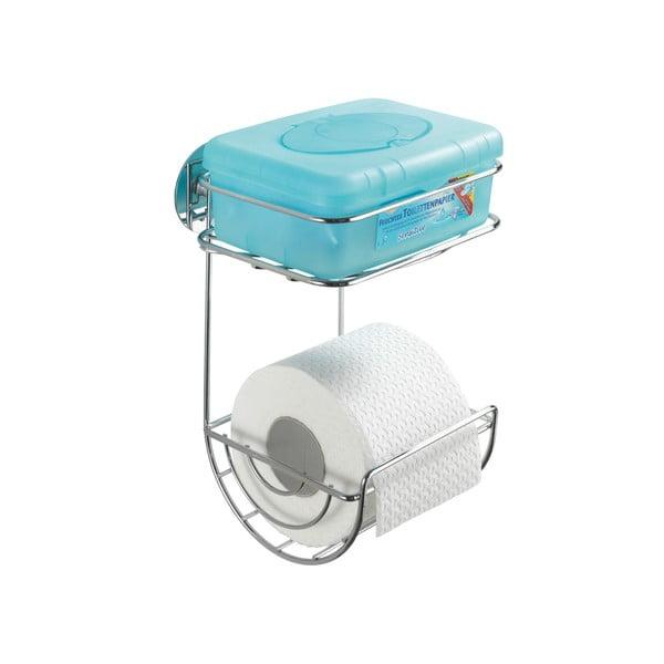 Samodržící dvoupatrový stojan na toaletní papír Wenko Turbo-Loc, nosnost až 40 kg