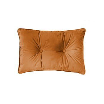 Pernă Tiseco Home Studio Velvet Button, 40x60cm, portocaliu de la Tiseco Home Studio