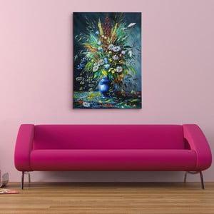 Obraz na plátně Luční květiny v temnotě, 50x70 cm