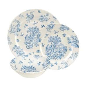 Sada 12 talířů Churchill China Toile Blue Mint de Jardin