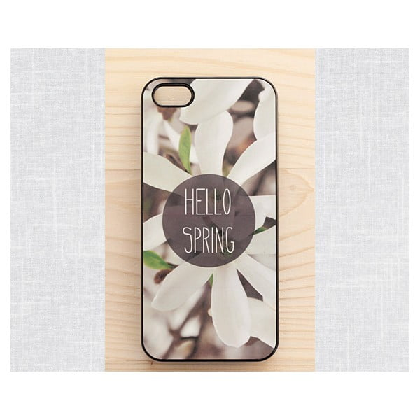 Obal na iPhone 4/4S, Hello Spring/black