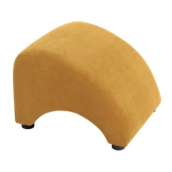 Taburet / suport pentru picioare Max Winzer Brandford Velor, galben muștar de la Max Winzer