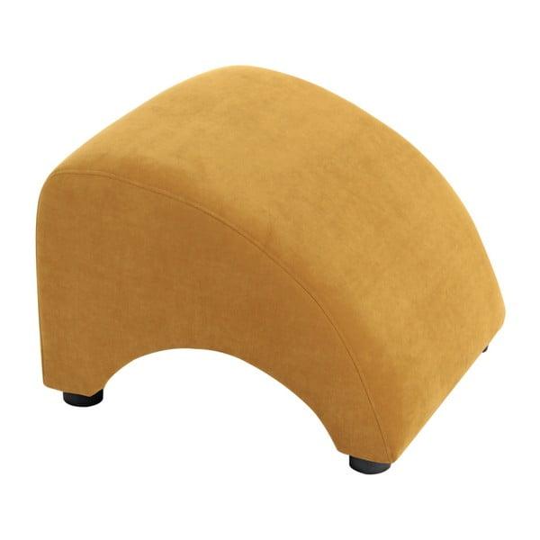 Żółty podnóżek Max Winzer Brandford Velor