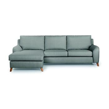 Canapea cu 3 locuri cu șezlong pe partea stângă SoftNord Lewis gri