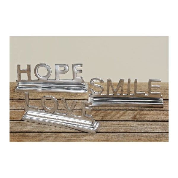 Dekorace Hope Smile Love