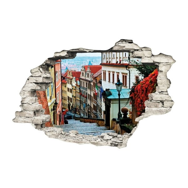 Autocolant perete 3D Ambiance Praga Staré Město, 90 x 60 cm