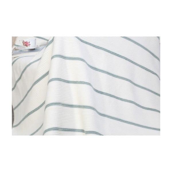 Deka s příměsí bavlny Aksu Mint, 200 x 150 cm