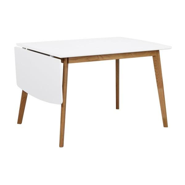 Jídelní stůl s konstrukcí z dubového dřeva se sklápěcí deskou Rowico Olivia, délka 120+40cm