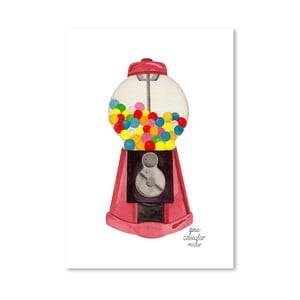 Autorský plakát Gumball Machine, 30x42 cm