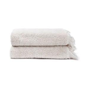 Sada 2 krémových ručníků ze 100% bavlny Bonami, 50x90 cm
