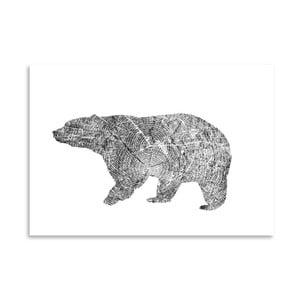 Poster Americanflat Bear, 30 x 42 cm