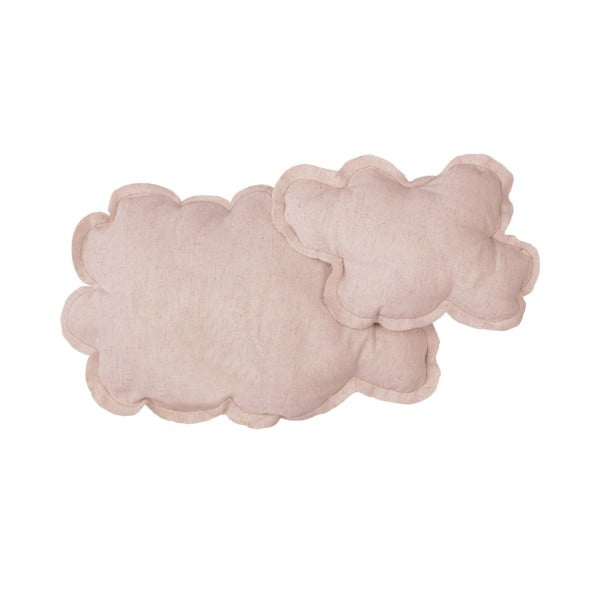 Růžový dekorativní polštář Little Nice Things Cloud