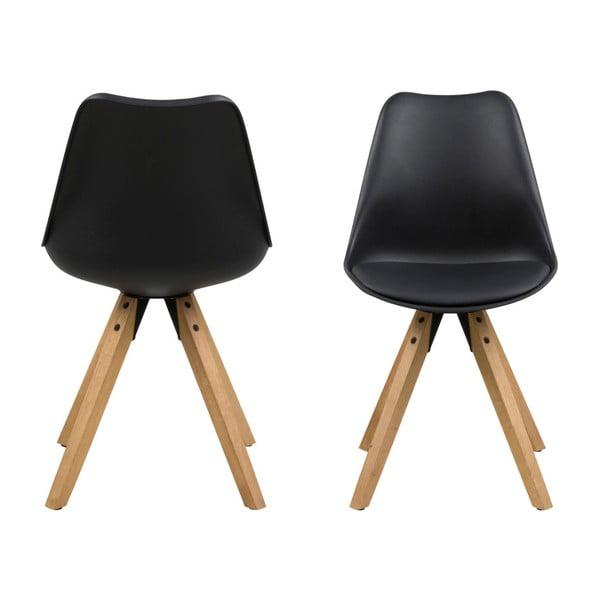 Set 2 scaune Actona Dima, negru
