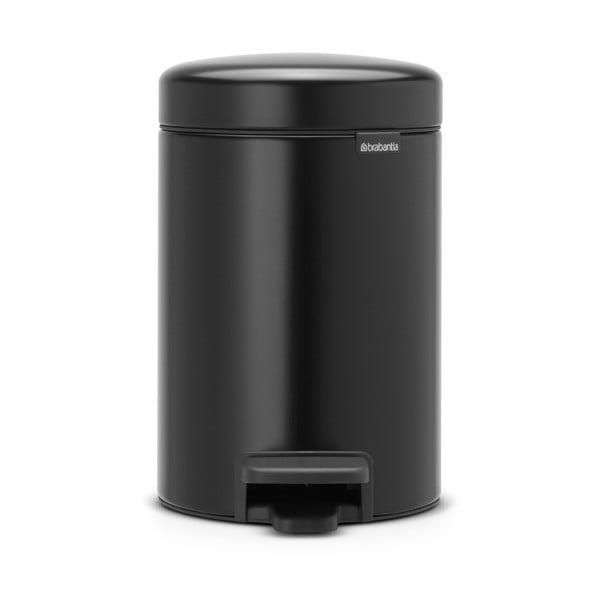 Černý pedálový odpadkový koš Brabantia Newicon, 3l